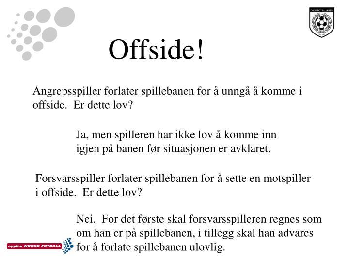 Offside!