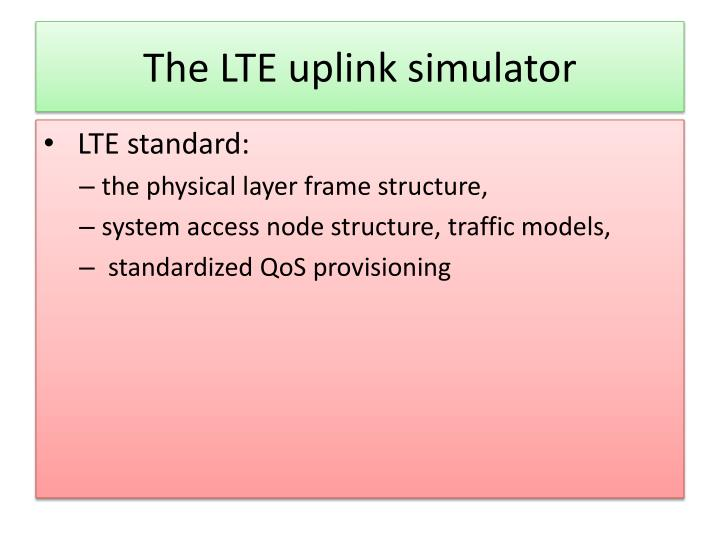 The LTE uplink simulator
