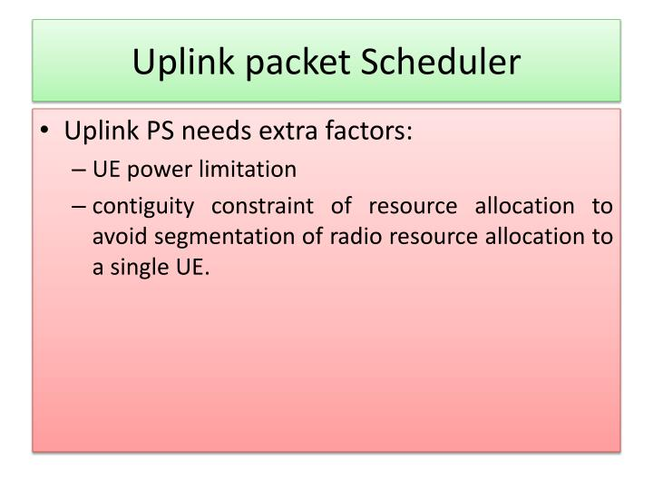 Uplink packet Scheduler