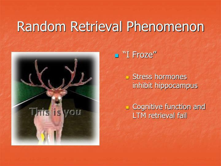 Random Retrieval Phenomenon