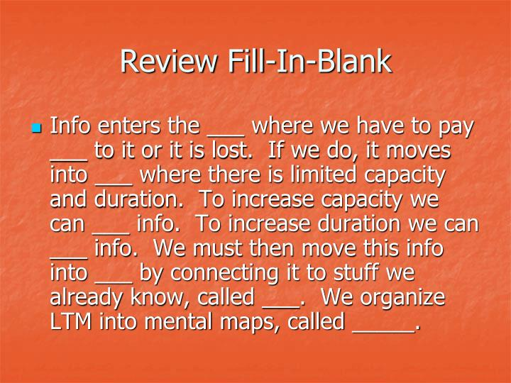 Review Fill-In-Blank