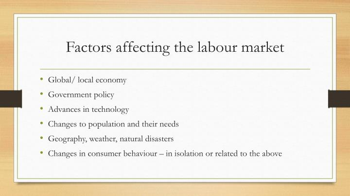 Factors affecting the labour market