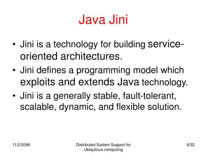 Java Jini