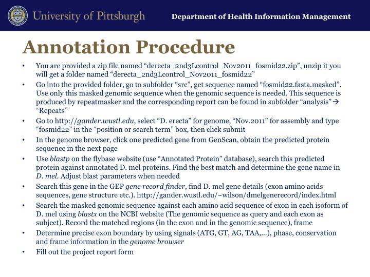 Annotation Procedure