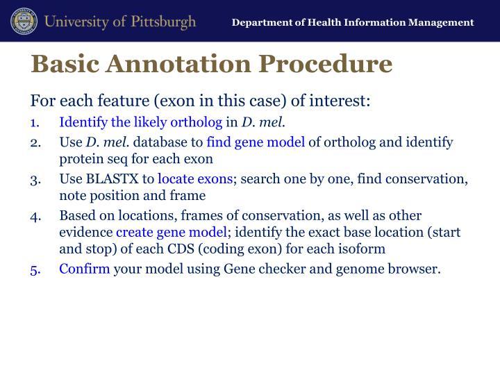 Basic Annotation Procedure