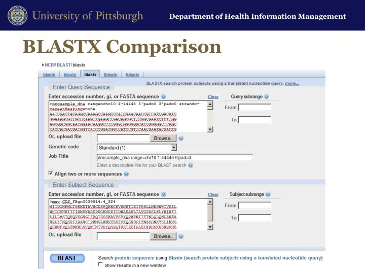 BLASTX Comparison