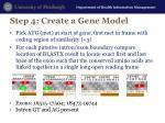 step 4 create a gene model