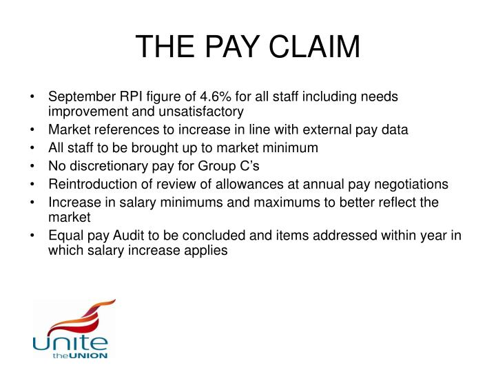 THE PAY CLAIM