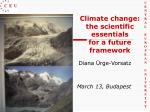 climate change the scien tific essentials for a future framework