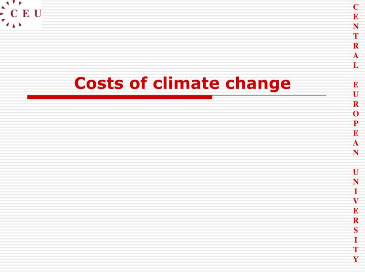 Costs of climate change