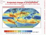 projected change in precipitation for the period 2080 to 2099 relative to 1980 to 1999 sres a1b