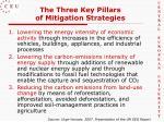 the three key pillars of mitigation strategies
