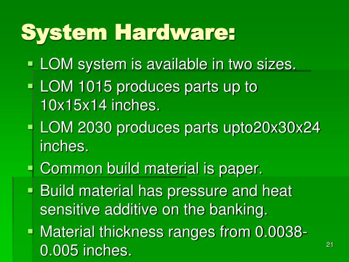 System Hardware: