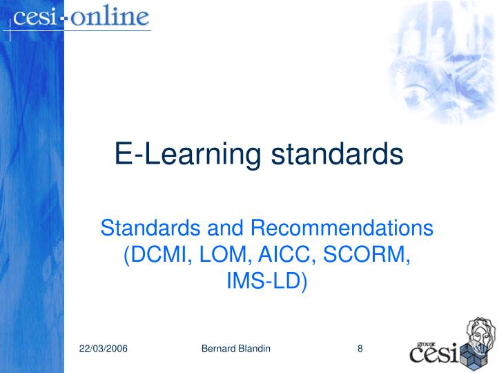 E-Learning standards
