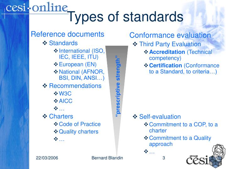 Types of standards
