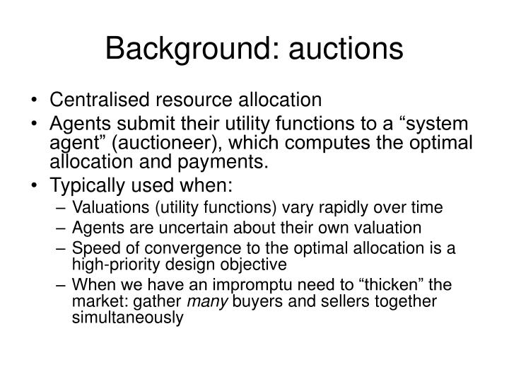 Background auctions
