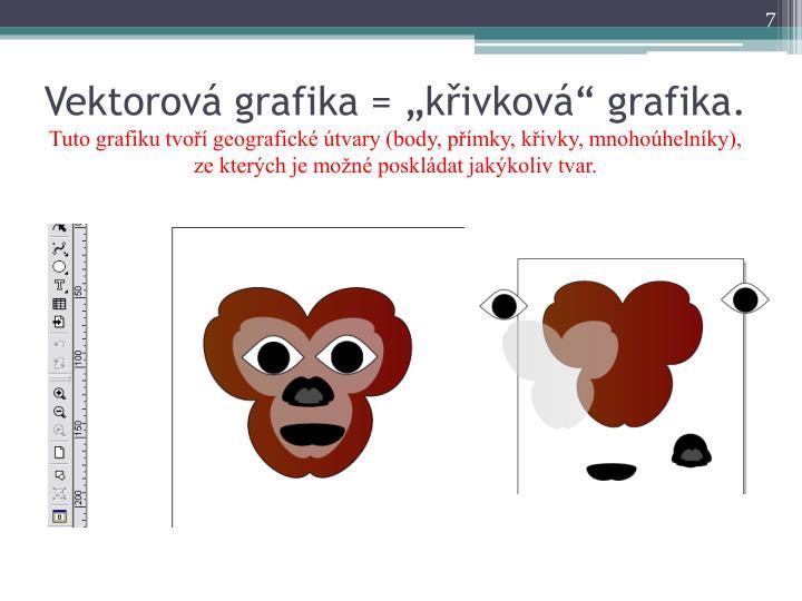 "Vektorová grafika = ""křivková"" grafika."