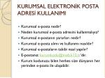 kurumsal elektron k posta adres kullanimi