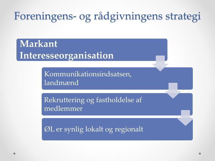 Foreningens- og rådgivningens strategi