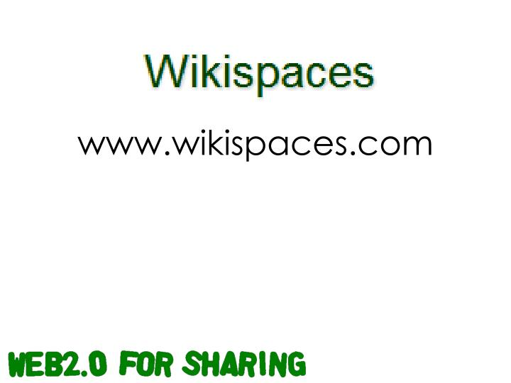 www.wikispaces.com