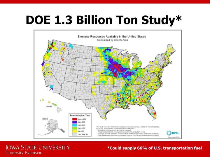 DOE 1.3 Billion Ton Study*