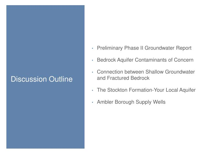 Preliminary Phase II Groundwater Report