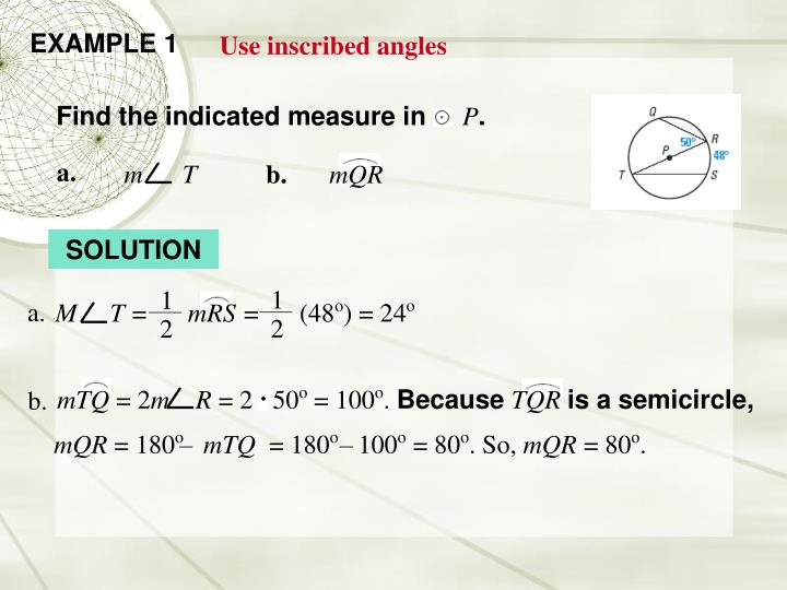 Find the indicated measure in