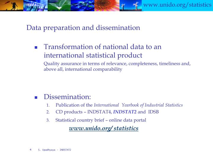 Data preparation and dissemination
