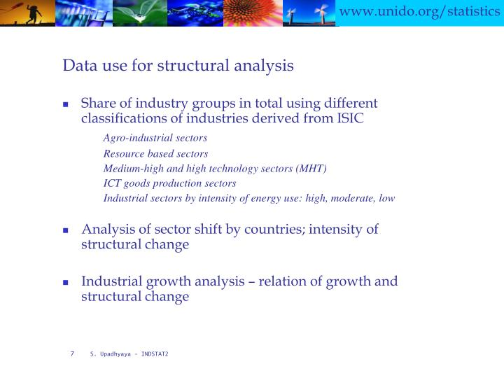 Data use for structural analysis