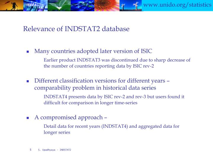 Relevance of INDSTAT2 database