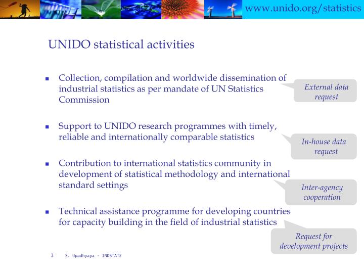 Unido statistical activities
