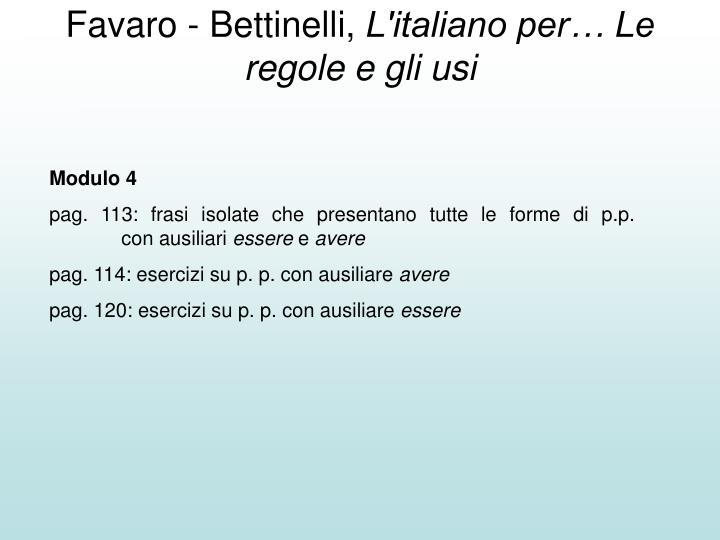 Favaro - Bettinelli,
