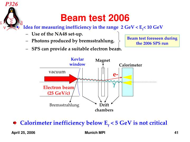 Beam test 2006