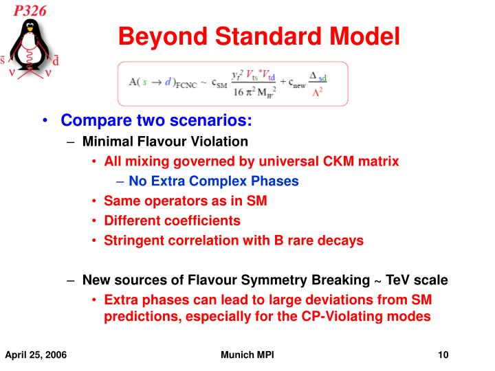 Beyond Standard Model