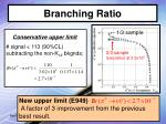 branching ratio