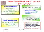 direct cp violation in k p p p k p p 0 p 0