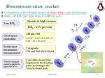 downstream straw tracker