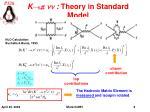 k p nn theory in standard model