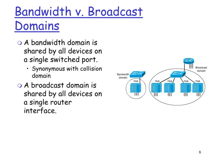 Bandwidth v. Broadcast Domains