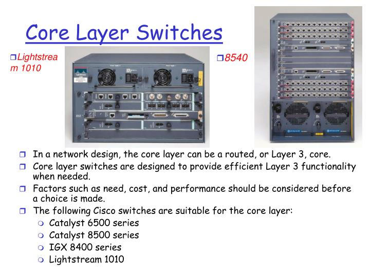Core Layer Switches