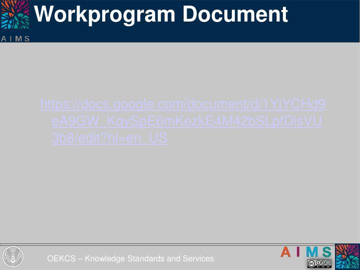 Workprogram