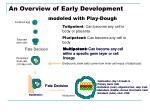 an overview of early development modeled with play dough