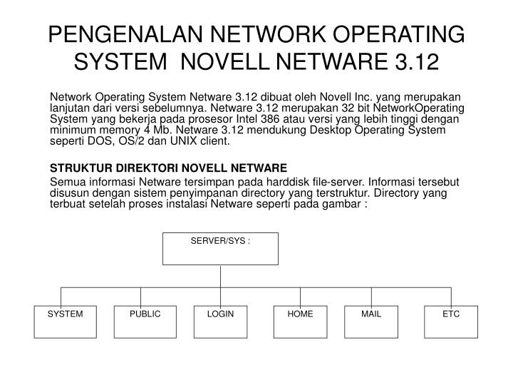 Pengenalan network operating system novell netware 3 12