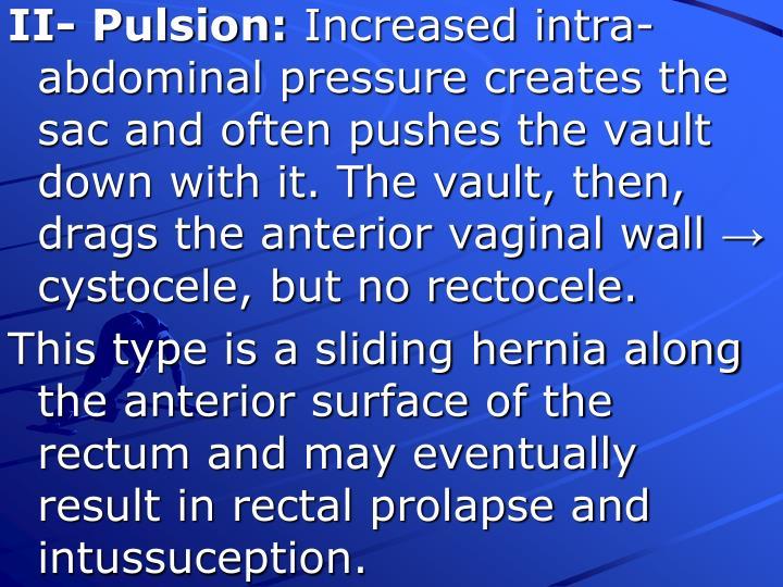 II- Pulsion: