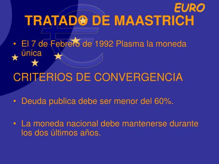 TRATADO DE MAASTRICH