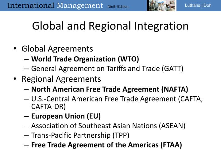 Global and Regional Integration