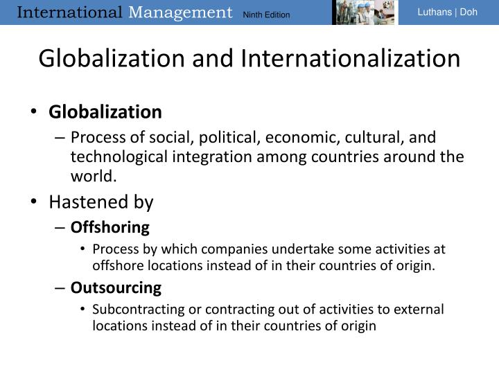 Globalization and Internationalization