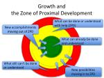 growth and the zone of proximal development