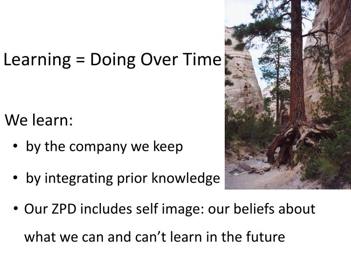 Learning = Doing Over Time