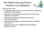 the digital learning process common core database